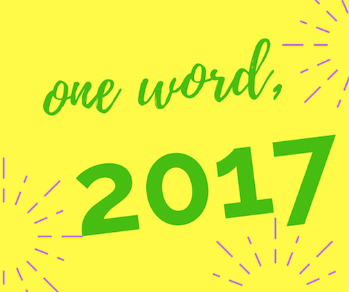 one word, 2017